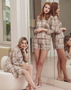 ESSENZA Erin Beau Almond Nightdress 3/4 sleeve L
