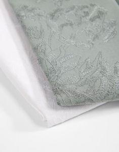 ESSENZA Fine Art Weiß Serviette 45 x 45 cm