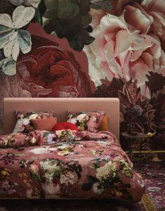 Essenza Fleur Dusty Rose Duvet cover 140 x 220