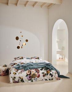 Essenza Fleur White Duvet cover 240 x 240