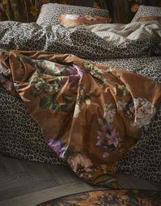 ESSENZA Fleur Leather Brown Tagesdecke 220 x 265 cm
