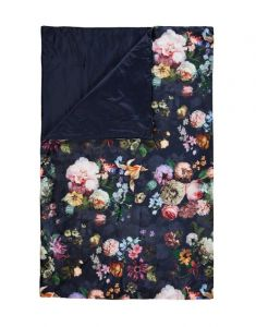 ESSENZA Fleur Nightblue Tagesdecke 240 x 100 cm