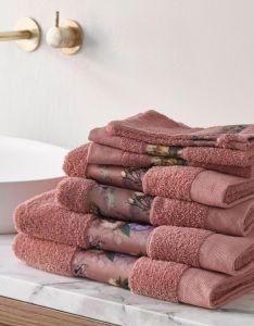 ESSENZA Fleur Dusty Rose Handtuch 60 x 110 cm