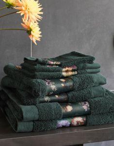 ESSENZA Fleur Towel Set Green