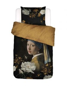 Essenza Floral Girl Black Duvet cover 135 x 200