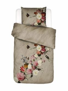 Essenza Flower Statement Stone Duvet cover 135 x 200