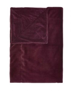 ESSENZA Furry Burgundy Plaid 150 x 200 cm
