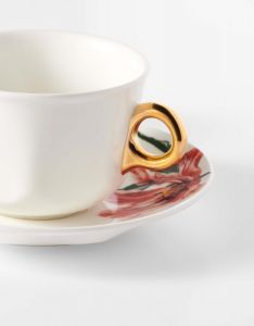 ESSENZA Gallery Off white Coffee cup & saucer 22 cl