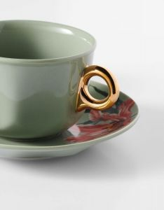 ESSENZA Gallery Stone green Coffee cup & saucer 22 cl