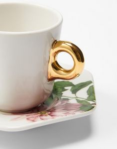 Essenza Gallery Off white Espresso cup & saucer 9 cl
