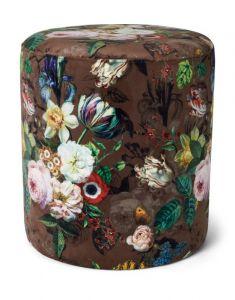 ESSENZA Giselle Chocolate Samthocker 40 x 40 x 43 cm