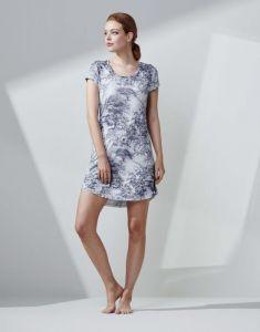 ESSENZA Isa Aurelie Iceblue Nightdress short sleeve M