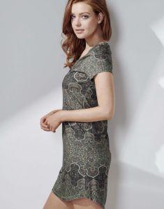 Essenza Isa Giulia Laurel Green Nightdress short sleeve L
