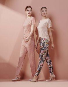 ESSENZA Jules Famke Rose Trousers Long M