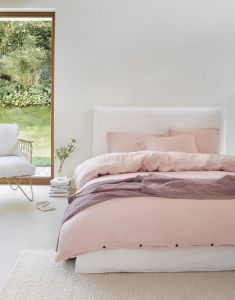 Marc O'Polo Kuva Pink Blush Bettwäsche 155 x 220 cm
