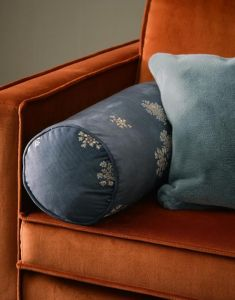 ESSENZA Lauren Indigo Blue Nackenrolle 22 x 50 cm