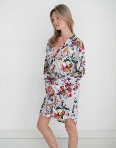 ESSENZA Lindy Fleur Grey Nightdress long sleeve XXL