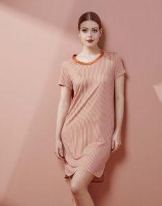 ESSENZA Loreen Striped Ginger Nightdress short sleeve M
