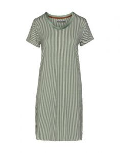 Essenza Loreen Striped Laurel Green Nightdress short sleeve XL