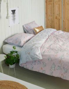 Covers & Co Loveletter Rose/grey Duvet cover 240 x 220