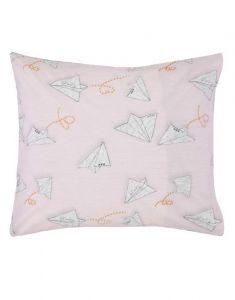 Covers & Co Loveletter Rose/grey Pillowcase 60 x 70