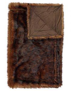 ESSENZA Luma Braun Plaid 130 x 170 cm