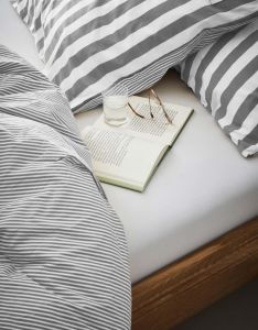 Marc O'Polo Marc O'Polo Jersey White Fitted sheet 140-160 x 200-220