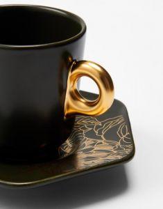 Essenza Masterpiece Dark Green Espresso cup & saucer 9 cl