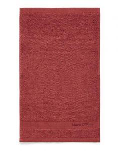 Marc O'Polo Melange Deep Rose / Warm Red Gästetuch 30 x 50 cm