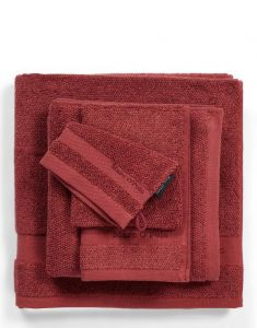 Marc O'Polo Melange Deep Rose / Warm Red Waschhandschuhe 16 x 22 cm