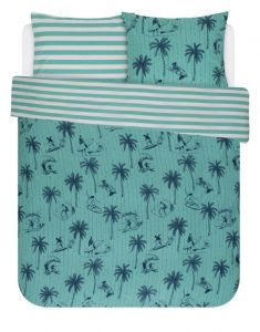 Covers & Co Miko Turquoise Duvet cover 200 x 220