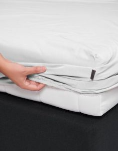 ESSENZA Minte White Fitted sheet 90 x 200