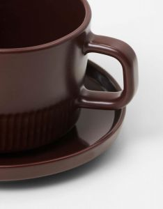 Marc O'Polo Moments earth brown Coffee cup & saucer 20 cl