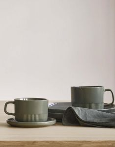 Marc O'Polo Moments Olive green Coffee cup & saucer 20 cl