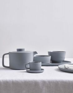 Marc O'Polo Moments Soft grey Espresso cup & saucer 10 cl