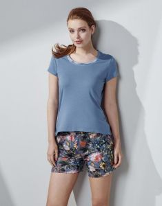 ESSENZA Natalie Famke Moonlight blue Trousers short M