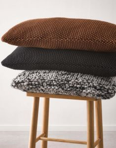 Marc O'Polo Nordic knit Toffee brown Cushion 30 x 60