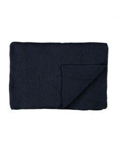 Marc O'Polo Nordic knit Indigo blue Plaid 130 x 170