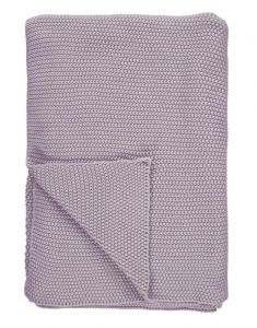 Marc O'Polo Nordic knit Lavender Mist Plaid 130 x 170