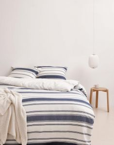 Marc O'Polo Osi Blau Kissenbezug 40 x 80 cm