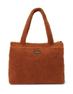 ESSENZA Peyton Teddy Leather Brown Shoulder Bag One Size