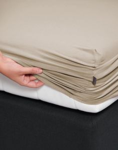 Essenza Premium Jersey Cement Fitted sheet 140-160 x 200-220