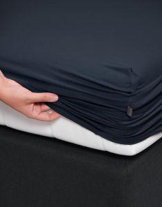 ESSENZA Premium Jersey Nightblue Spannbettlaken 90-100 x 200-220 cm