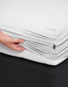 ESSENZA Premium Jersey Weiß Spannbettlaken 140-160 x 200-220 cm
