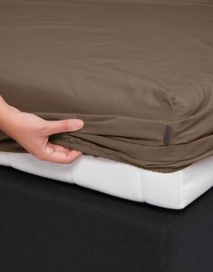 Essenza Premium Percale Cafe Noir Fitted sheet 90 x 220