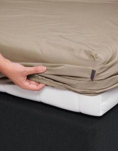 ESSENZA Premium Percale Clay Spannbettlaken 160 x 200 cm