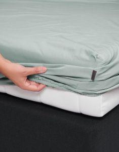 ESSENZA Premium Percale Dusty Green Spannbettlaken 120 x 200 cm