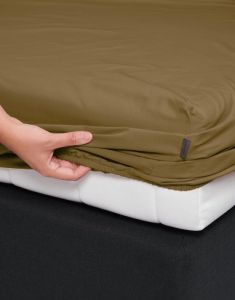 Essenza Premium Percale Olive Fitted sheet 180 x 220