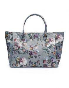 ESSENZA Puck Fleur Faded Blue Schultertasche Large