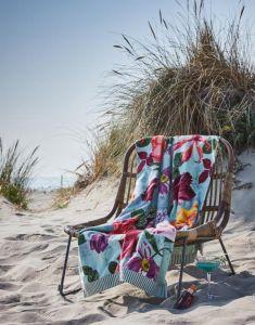 Essenza Scarlett Sage green Beach towel 100 x 180